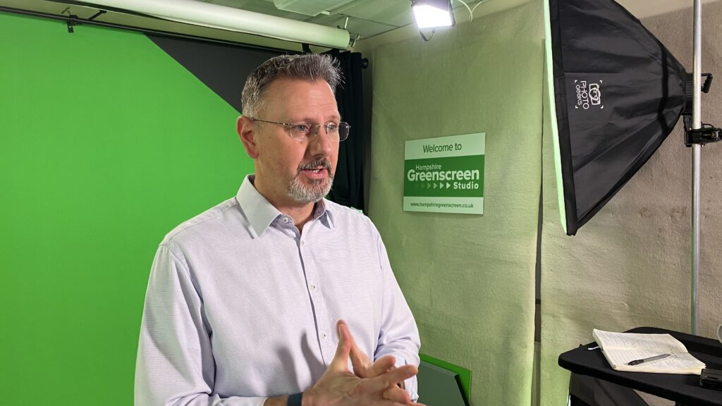 Andreas Nest, ActionCoach in Video Promo in the Greenscreen Studio Southampton